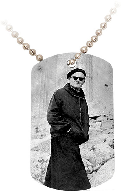 Pope On a Mission (JPII) Dog Tag