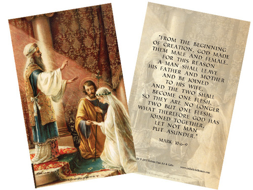 Wedding of Joseph and Mary Holy Card