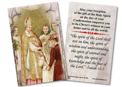 Traditional Confirmation Holy Card