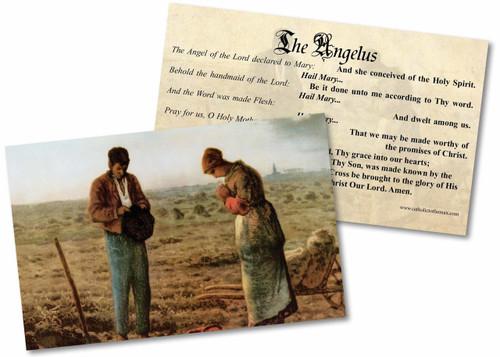 The Angelus Holy Card
