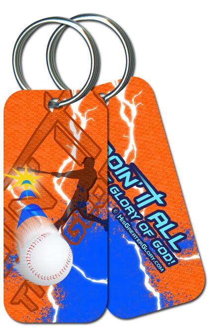 """Doing It All"" Baseball Keychain"