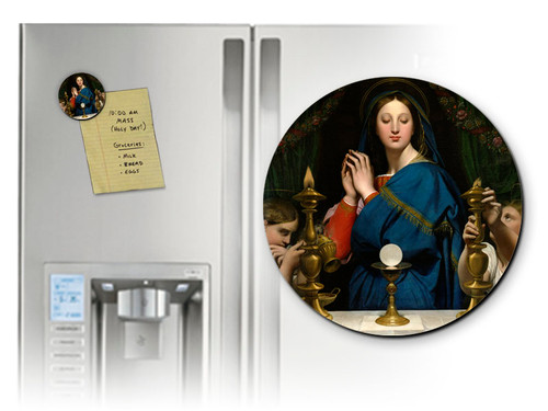 Madonna of the Host Round Magnet