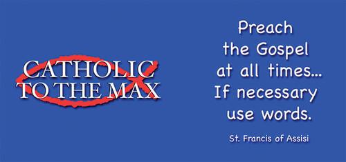 Catholic to the Max Blue Mug