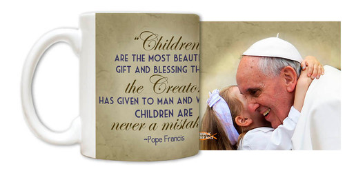 Pope Francis with Child Mug