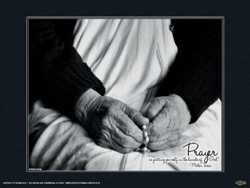 Mother Teresa (Hands) Poster