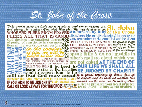 Saint John of the Cross Quote Poster
