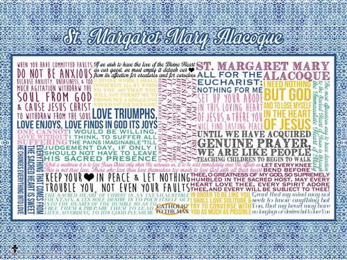 Saint Margaret Mary Alacoque Quote Poster
