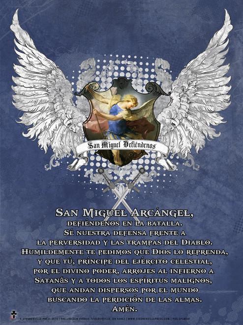 Spanish St. Michael Defend Us Heraldic Poster