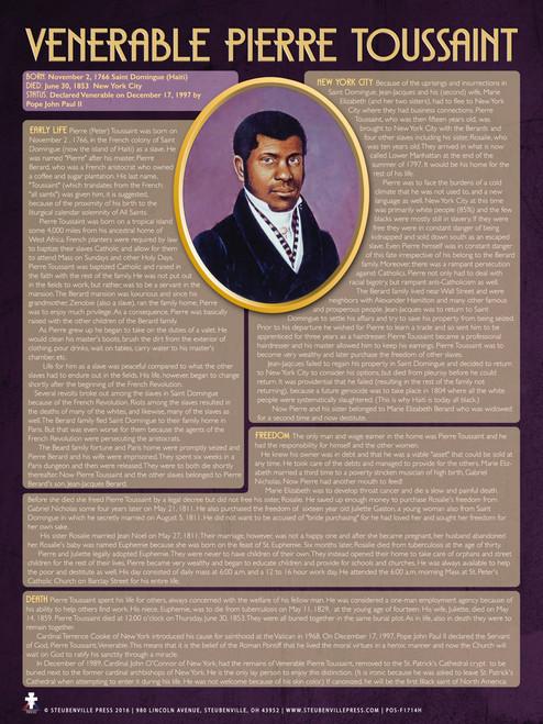 Venerable Pierre Toussaint Explained Poster