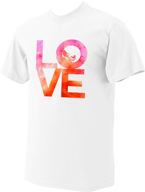 Love with Baby White Pro-Life T-Shirt Watercolor