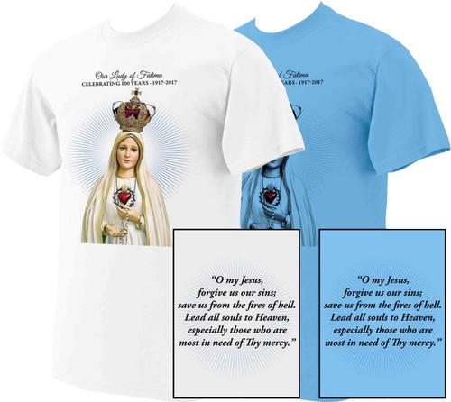 """100 Year Anniversary Fatima """"O My Jesus"""" T-shirt"""
