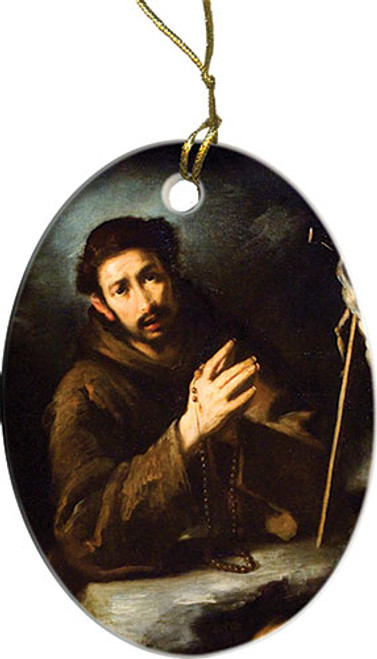 St. Francis in Prayer Ornament