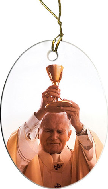 St. John Paul II Raising Chalice Ornament