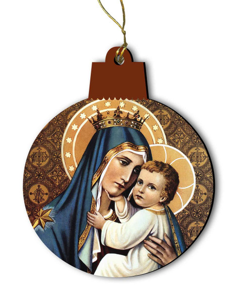 Our Lady of Mt. Carmel Wood Ornament