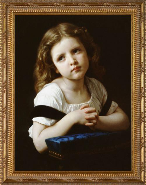 La Priere Canvas - Ornate Gold Framed Art