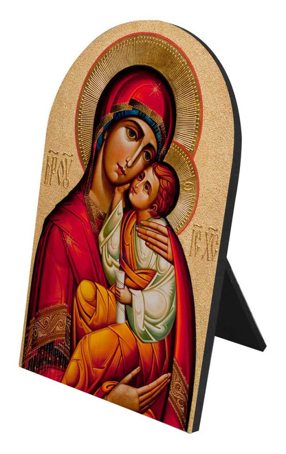Byzantine Madonna Arched Desk Plaque