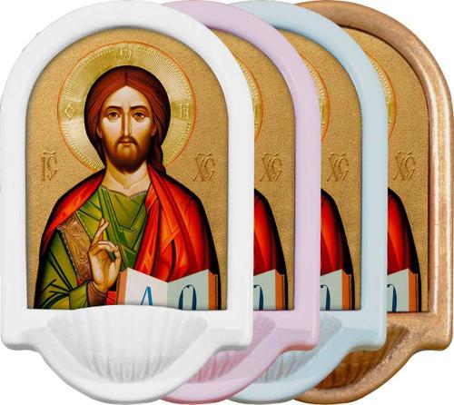 Byzantine Christ Holy Water Font