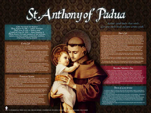 St. Anthony of Padua Explained Poster