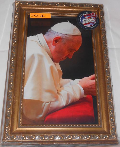 CLEARANCE Pope Francis Kneeling 8x12 Elegant Framed Print