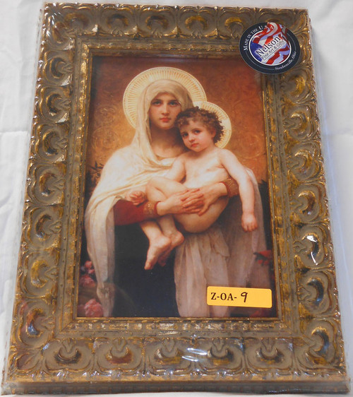 CLEARANCE Madonna of Roses 6x9 Framed Print