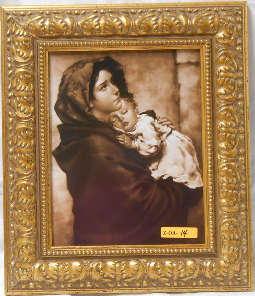 CLEARANCE Madonna of the Streets Sepia 8x10 Ornate Gold Framed Print