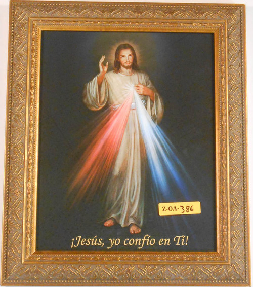 CLEARANCE Spanish Divine Mercy 8x10 Gold Framed Print