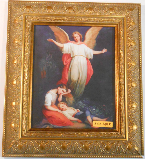CLEARANCE Guardian Angel with Children Resting 8x10 Framed Print