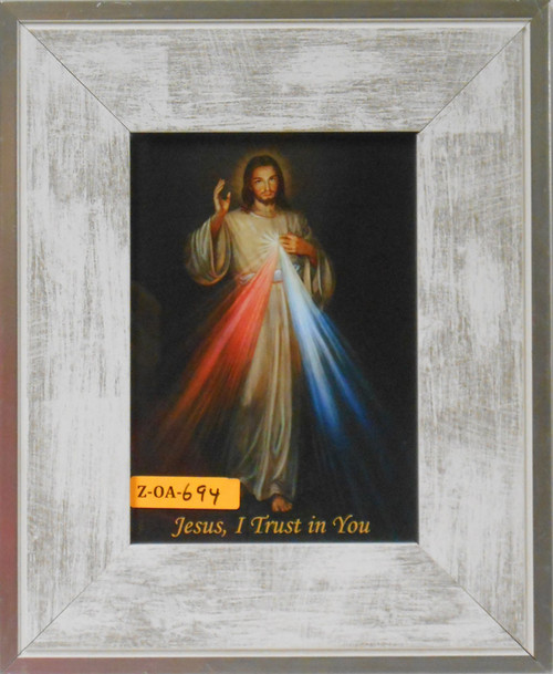 CLEARANCE Divine Mercy 5x7 Wide Light Wood Framed Print