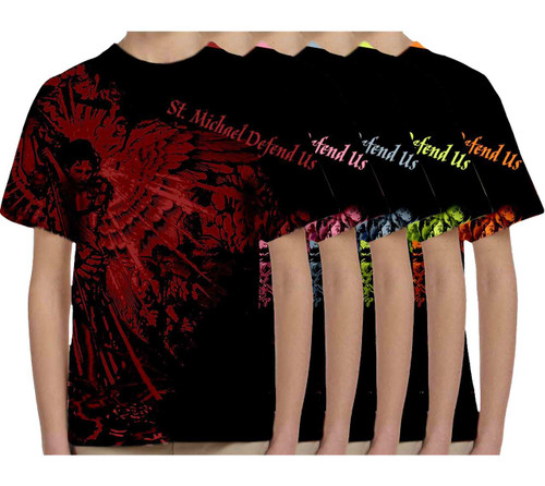 St. Michael Defend Us Graphic Children's Poly T-Shirt