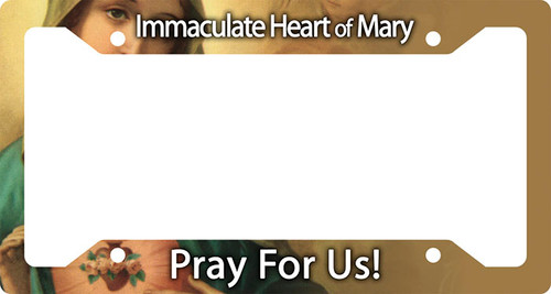Immaculate Heart of Mary Plate Frame