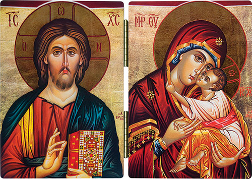 Jesus and Mary Icon Diptych
