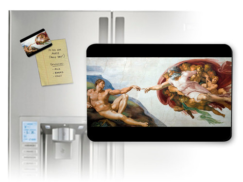 Creation of Adam by Michaelangelo Magnet