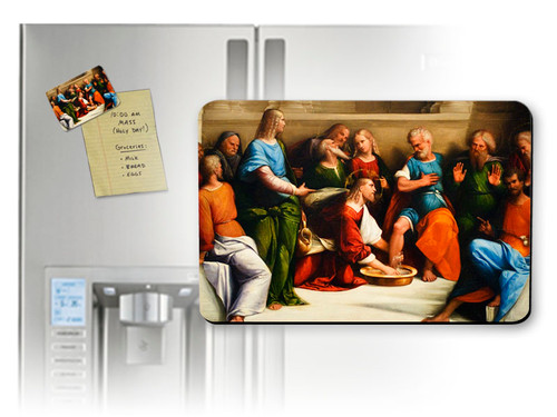 Christ Washing the Feet of His Apostles Magnet