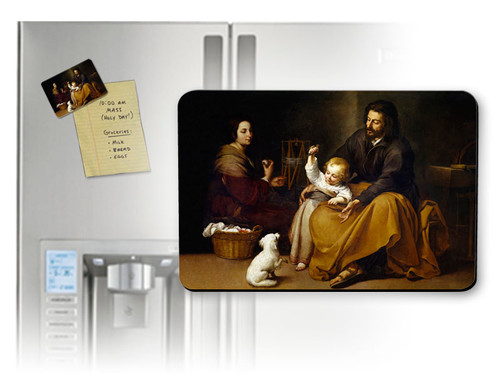 Holy Family with Small Bird by Murillo Magnet