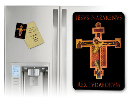 Byzantine Crucifix with I.N.R.I. Magnet