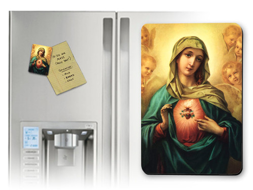 Immaculate Heart Surrounded by Angels Magnet