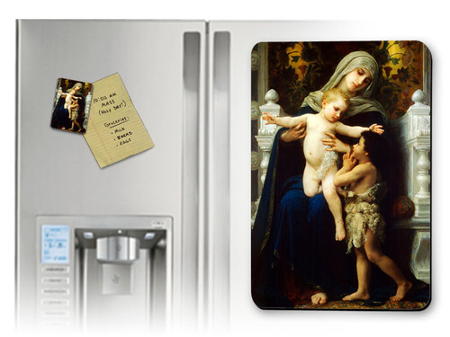 Virgin, Jesus, and St. John the Baptist (Adoring) Magnet