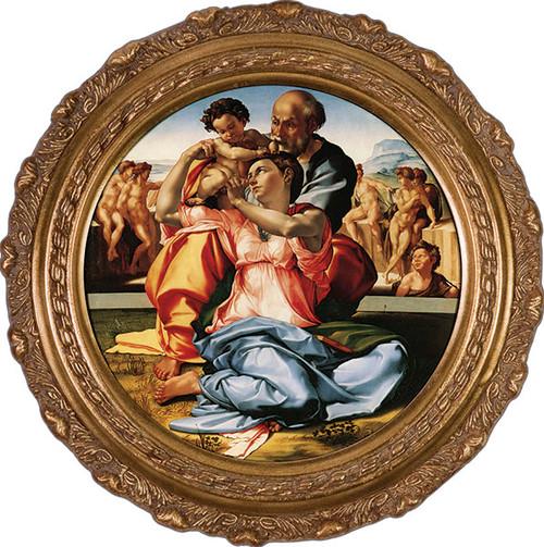 Holy Family by Michelangelo Framed Art