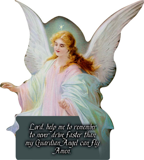 Guardian Angel II Cutout Magnet
