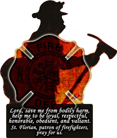 Firefighter Cutout Magnet