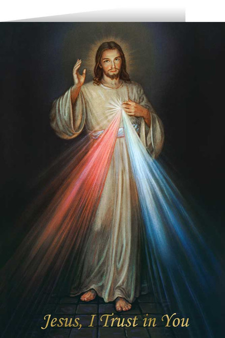 Divine Mercy with Prayer Greeting Card