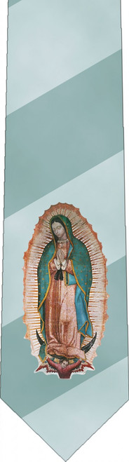Striped Our Lady of Guadalupe Tie