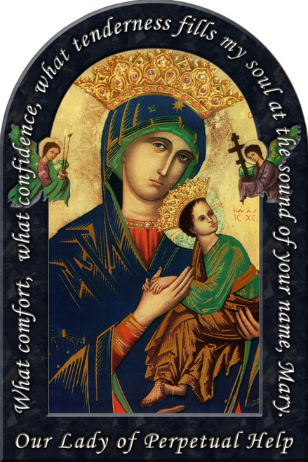 Our Lady of Perpetual Help Prayer Arched Magnet
