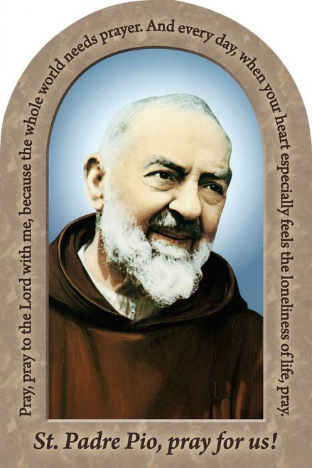 St. Padre Pio Prayer Arched Magnet