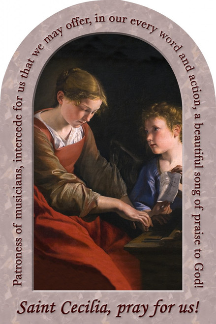 St. Cecilia Prayer Arched Magnet