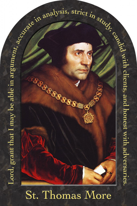 St. Thomas More Prayer Arched Magnet