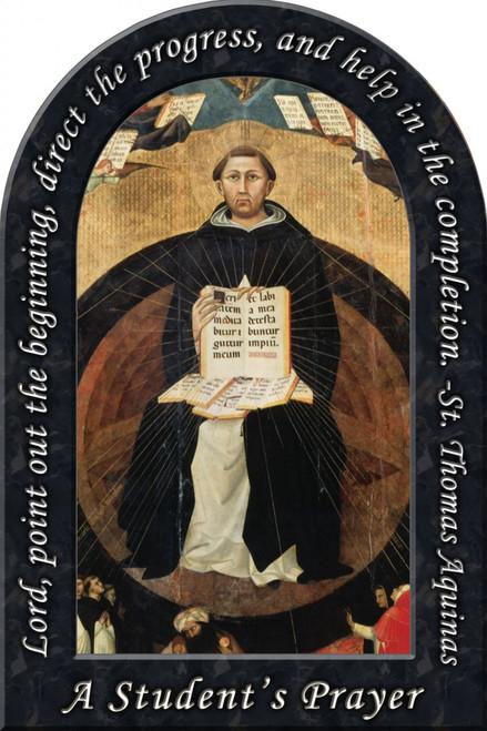 St. Thomas Aquinas Prayer Arched Magnet