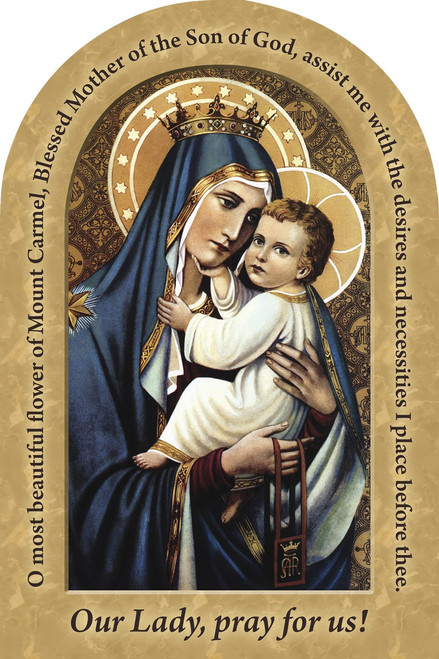 Our Lady of Mt. Carmel Prayer Arched Magnet