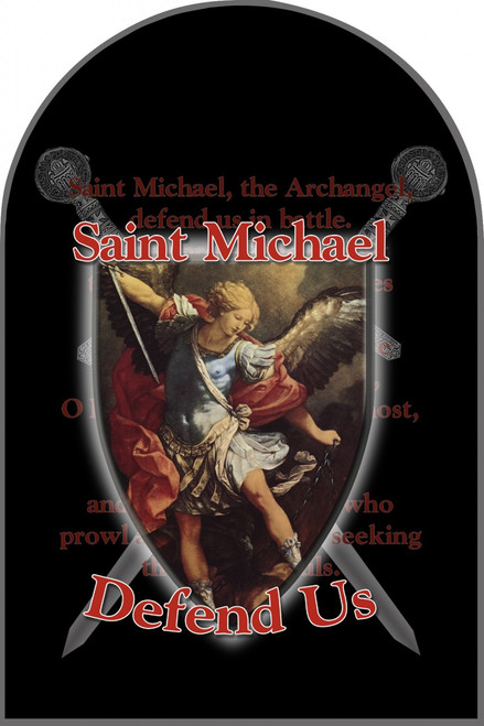 St. Michael Defend Us Arched Magnet