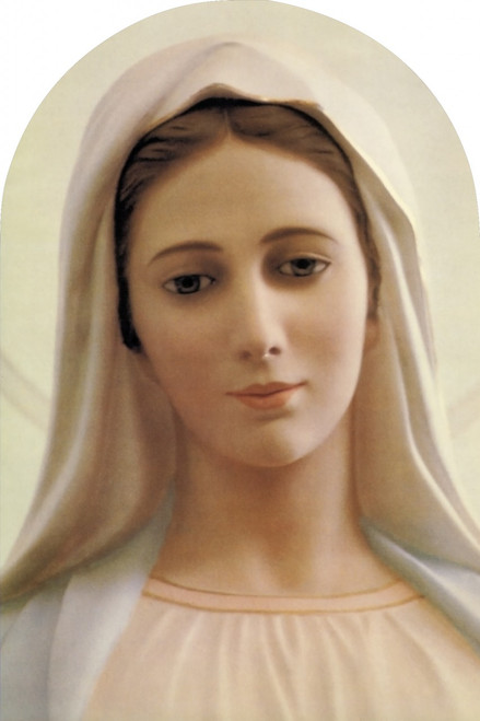 Our Lady of Medjugorje Arched Magnet